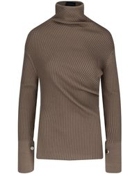 Eudon Choi High-neck Ribbed Sweater - Brown
