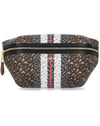 Burberry Monogram Stripe Detail Medium Belt Bag - Multicolor
