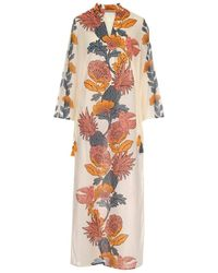 Tory Burch Printed Long Caftan - Multicolour