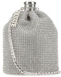 ROTATE BIRGER CHRISTENSEN Cassie Rhinestone-embellished Bucket Bag - Metallic