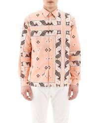 MSGM Pink Ss Shirt Bandana