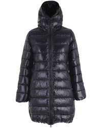 Duvetica Zipped Hooded Coat - Blue