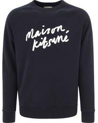 "Maison Kitsuné - ""handwriting"" Sweatshirt - Lyst"