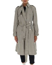 MICHAEL Michael Kors Checked Trench Coat - Grey