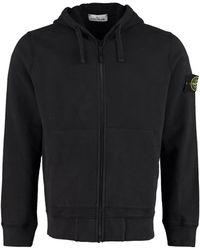 Stone Island Logo Patch Hooded Jacket - Black