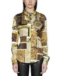 Versace Barocco Print Silk Shirt - Multicolour