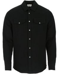 Alexander McQueen Embroidered Dragon Denim Jacket - Black