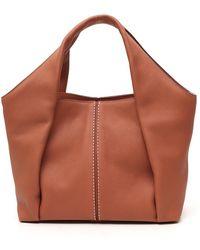 Tod's Shirt Small Shopping Bag - Brown