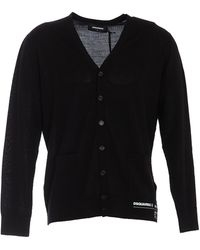 DSquared² Long-sleeved Buttoned Cardigan - Black