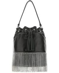 Miu Miu Embellished Bucket Bag - Black