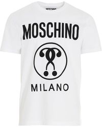 Moschino Double Question Mark T-shirt - White