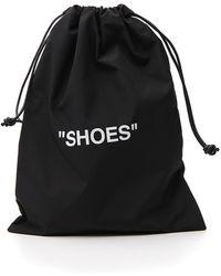 Off-White c/o Virgil Abloh Quote Drawstring Shoes Bag - Black