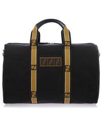 Fendi - Logo Strap Handle Holdall Bag - Lyst