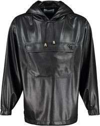 Nanushka Arno Hooded Sweatshirt - Black