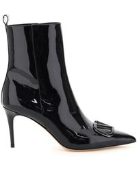 Valentino Garavani Vlogo Ankle Boots - Black