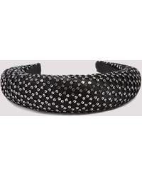Maison Michel Miwa Sequin Woven Headband - Black