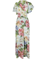 Dolce & Gabbana Floral Print Jumpsuit - Green