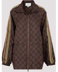 Gucci - GG Supreme-print Silk Jacket Xs - Lyst