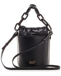RED Valentino Redvalentino Mini Maxi Chained Bucket Bag - Black
