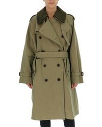 Marc Jacobs Double Breasted Trench Coat - Green