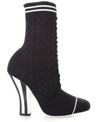 Fendi - Lace-up Look Sock Boots - Lyst