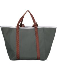 Moncler Genius Moncler X Jw Anderson Logo Charm Tote Bag - Green