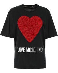 Love Moschino Logo Printed T-shirt - Black