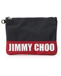 Jimmy Choo Derek Zipped Logo Clutch - Multicolor