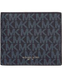 Michael Kors Monogram Bifold Wallet - Blue