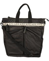 A.P.C. Repeat Zipped Pockets Tote Bag - Black