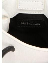 Balenciaga Shopping Phone Holder Tote Bag - White
