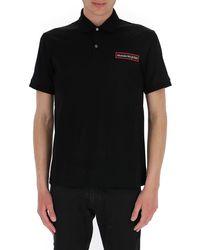 Alexander McQueen Signature Logo Polo Shirt - Black