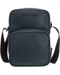 Emporio Armani Men's Leather Cross-body Messenger Shoulder Bag - Green