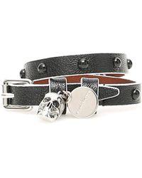 Alexander McQueen Wrap Skull Bracelet - Black