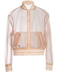 Dior Metallic Thread Fishnet Bomber Jacket - Pink
