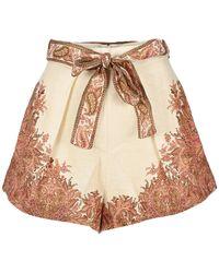 Zimmermann Brighton Tuck Shorts - Multicolour