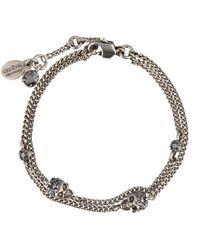 Alexander McQueen Twin Skull Chain Bracelet - Metallic