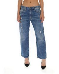 R13 Bain Mid-rise Boyfriend Jeans - Blue