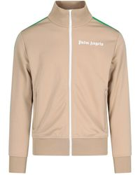 Palm Angels Logo Print Track Jacket - Natural