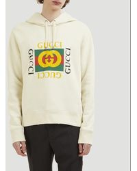 Gucci Cotton Sweatshirt With Print - White