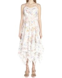 d4e5ea4f469 Zimmermann - Bowie Floral Printed Cotton Dress - Lyst