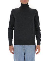 Dolce & Gabbana Turtleneck Knit Jumper - Grey