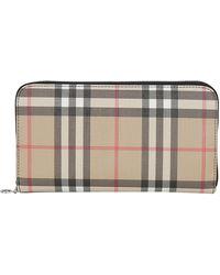 Burberry - Vintage Check Zip-around Wallet - Lyst