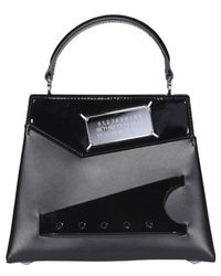 Maison Margiela Snatched Small Top Handle Bag - Black