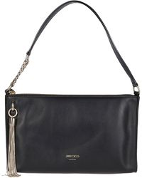 Jimmy Choo Callie Mini Hobo Shoulder Bag - Black