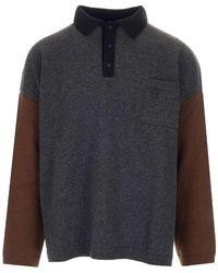 Loewe Polo Collar Oversize Sweater - Multicolor