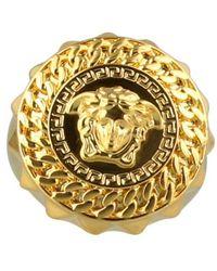 Versace Chained Medusa Ring - Metallic