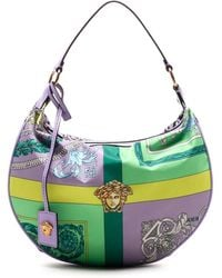 Versace Mixed Print Hobo Bag - Multicolor