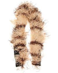 Miu Miu Ostrich Feather Scarf - Natural
