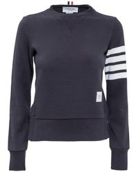 Thom Browne 4-bar Stripe Sweatshirt - Blue